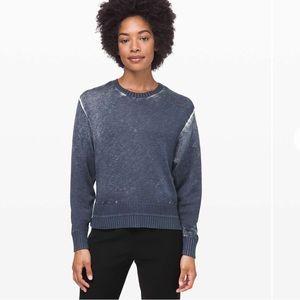 Lululemon Hazy Day Sweater Shadow Blue / Almost Blue